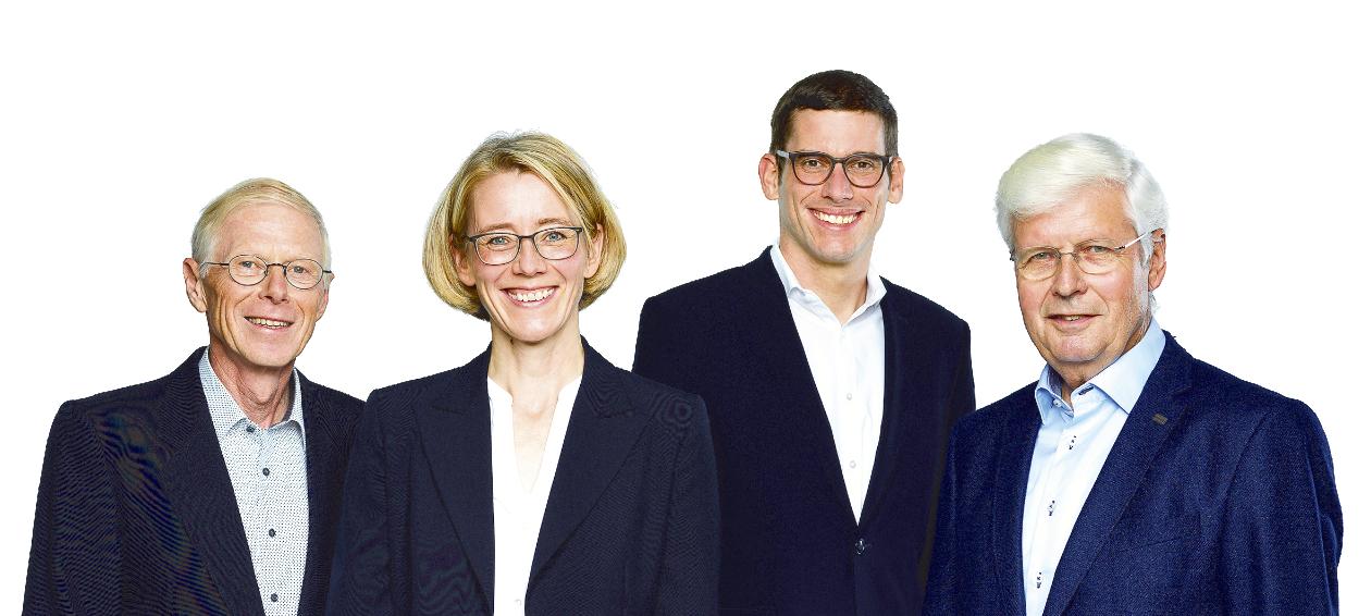 Erwin Grüter, Dr. Christoph Meier, Judith Erni Lüscher, Martin Grab